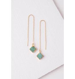 Mary Love, Turquoise Dangle Earrings