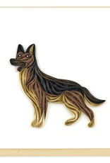 German Shepherd Quilling Card
