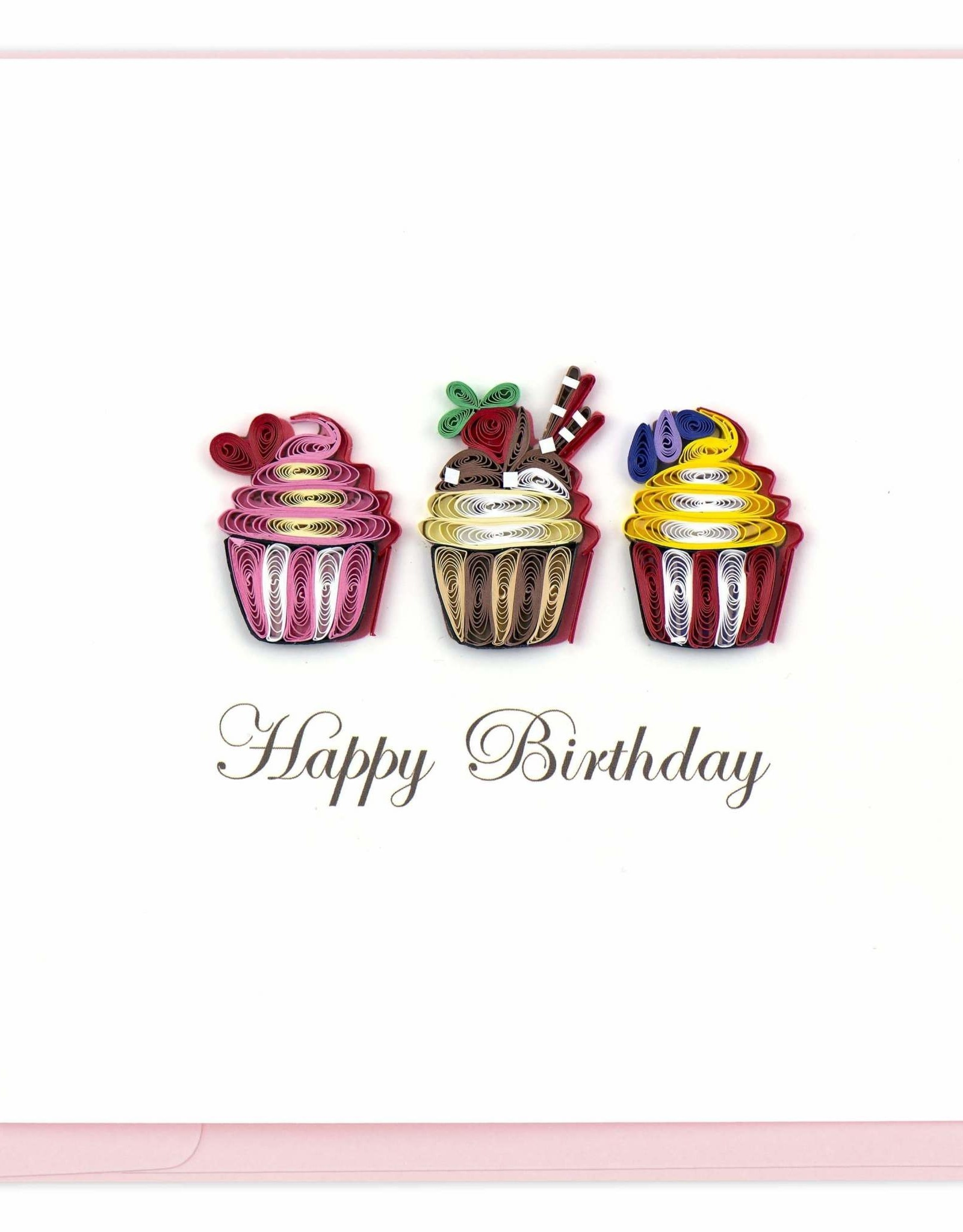 Birthday Cupcakes Quilling Card