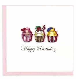 Birthday Cupcakes Quilling Card, Vietnam