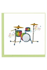 Drum Set Quilling Card