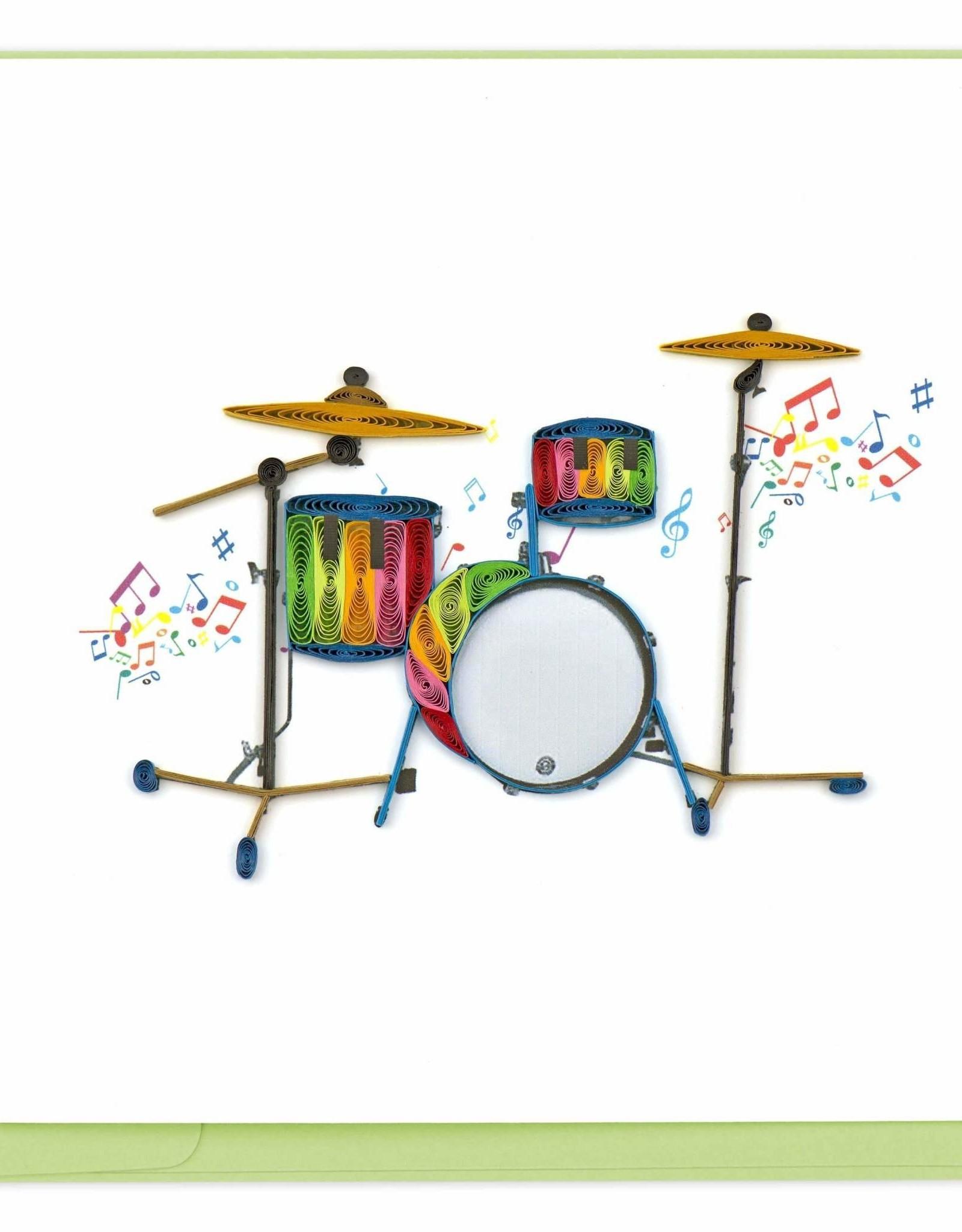 Drum Set Quilling Card