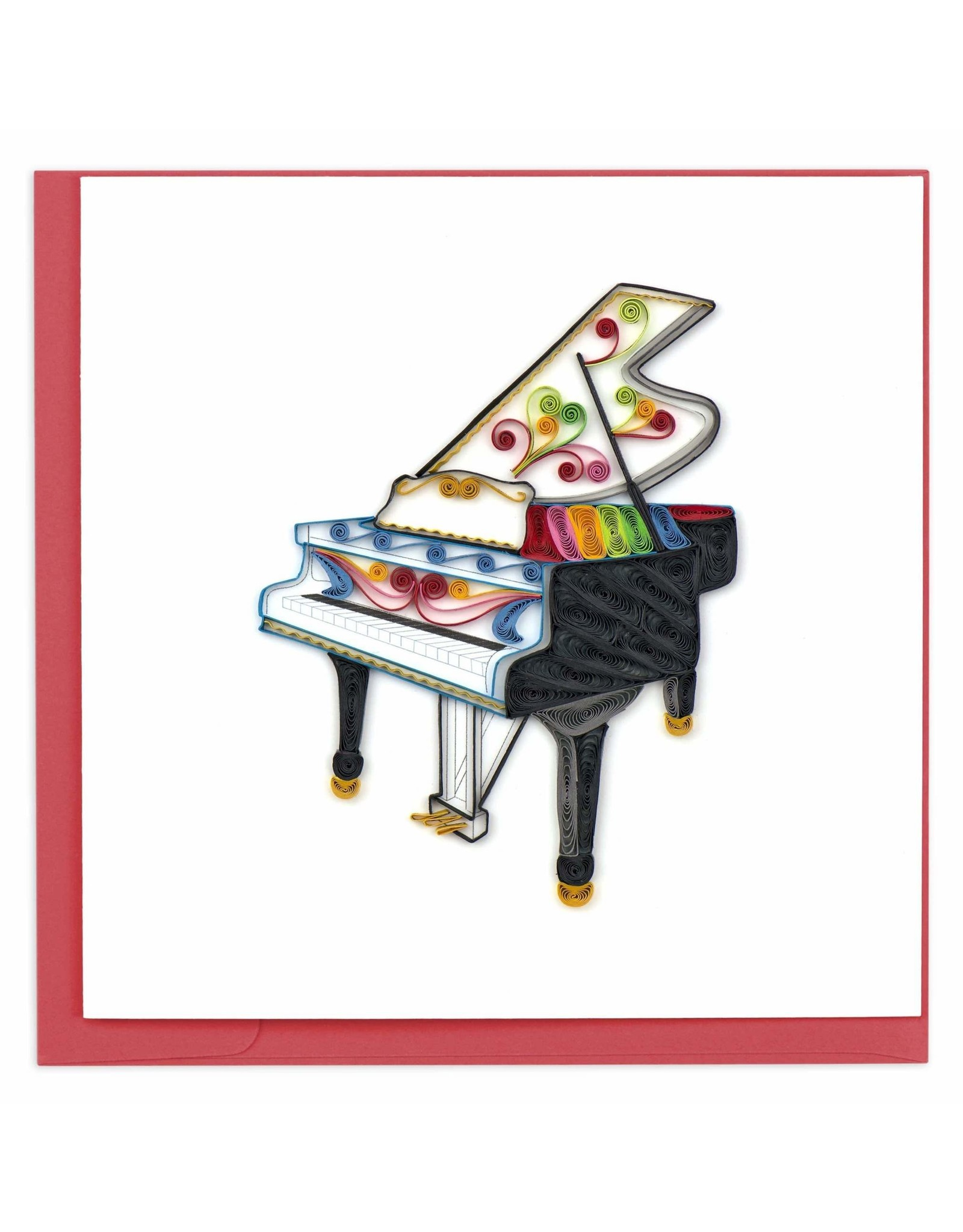 Grand Piano Quilling Card