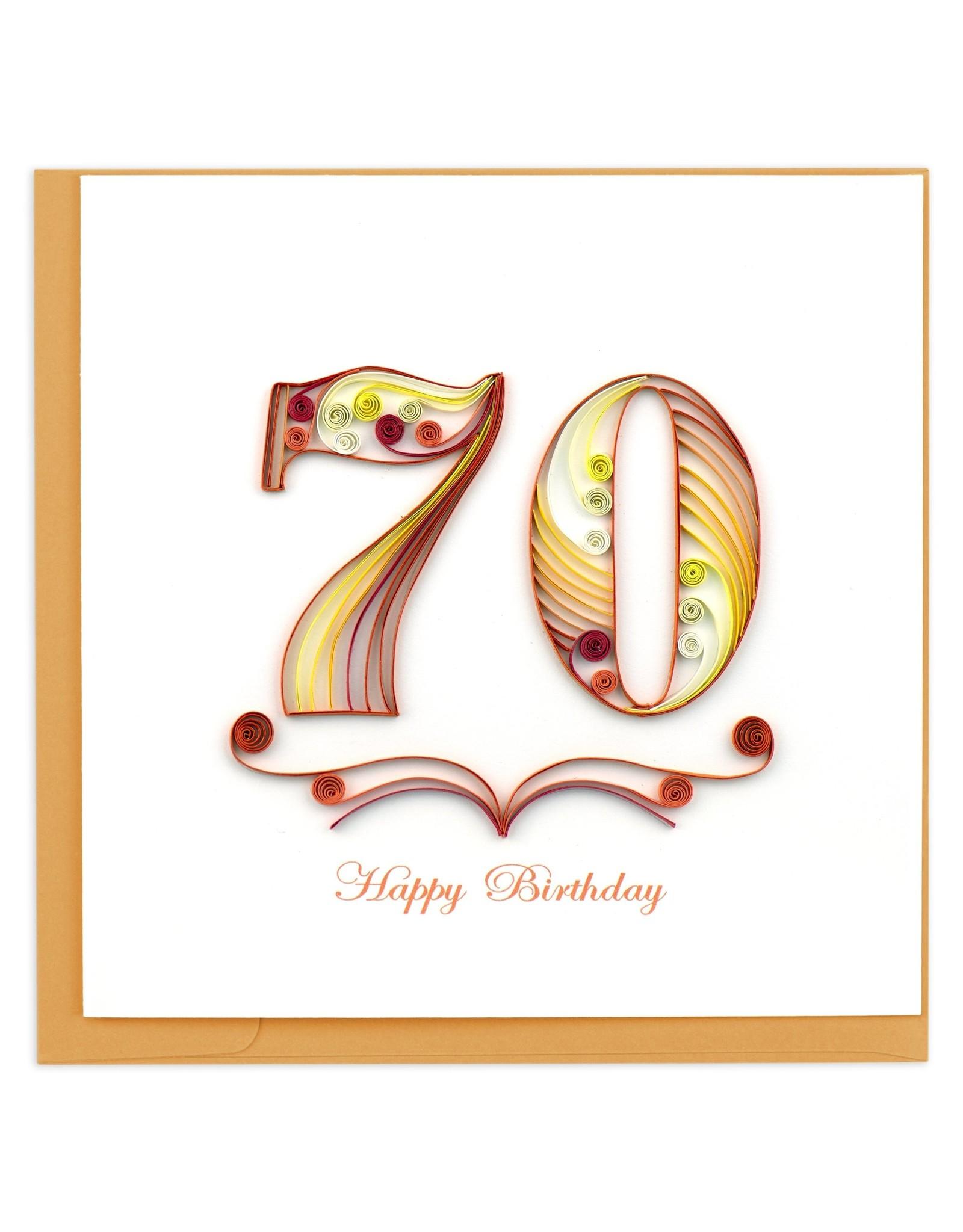 70th Birthday Quill