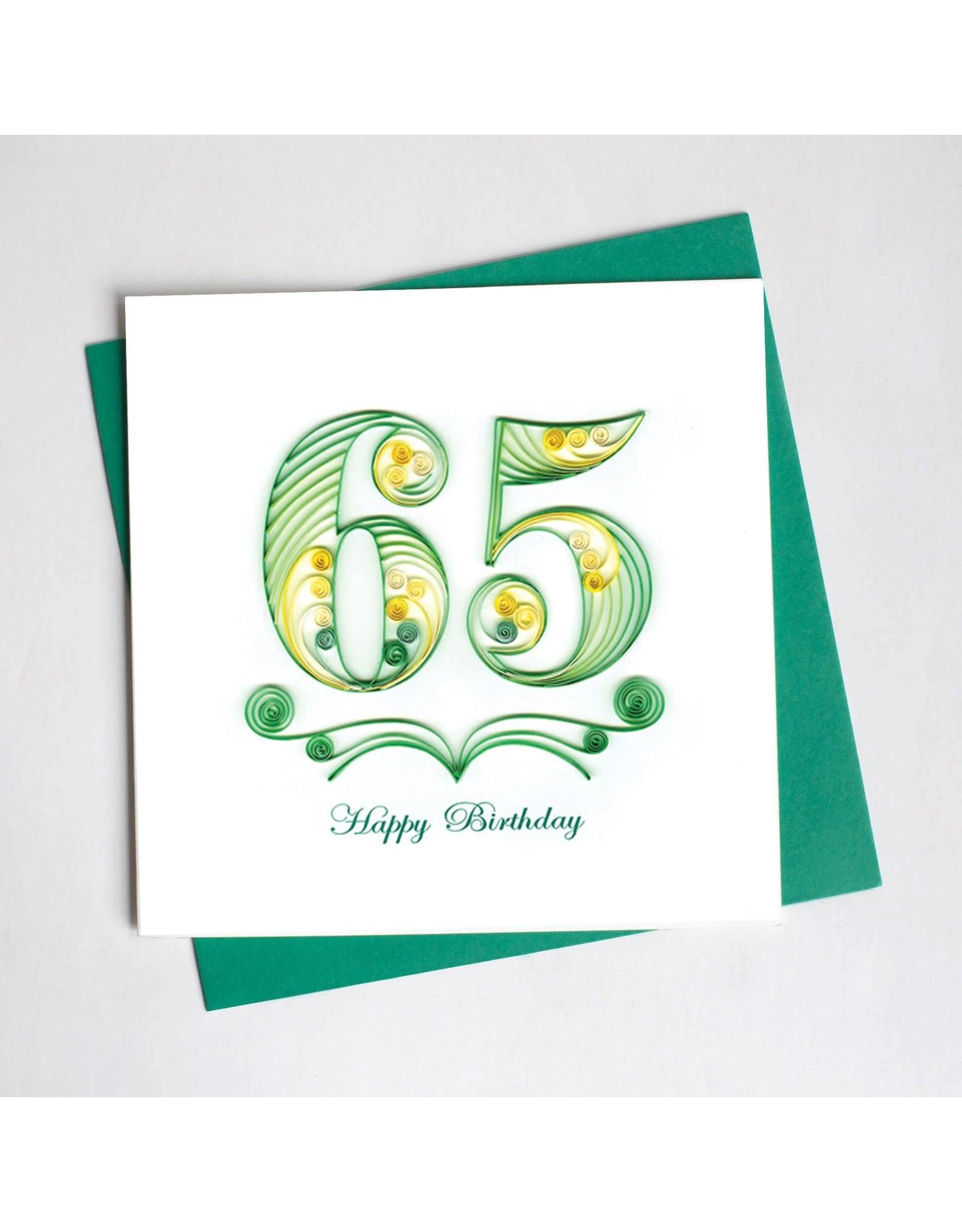 65th Birthday, Quilling Card, Vietnam