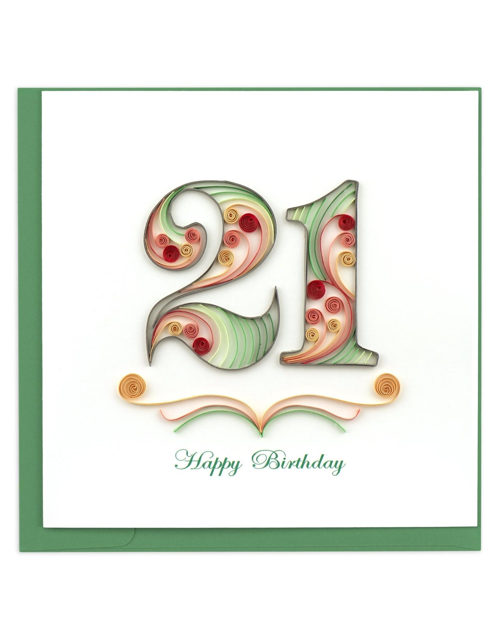 21st Birthday,  Quilling Card, Vietnam