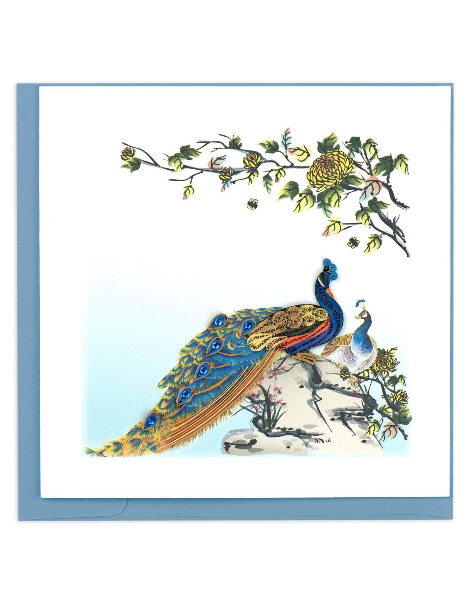 Peacock Quill Card