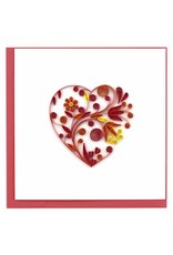 Large Heart Quill Card