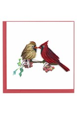 Two Cardinals Quilling Card, Vietnam