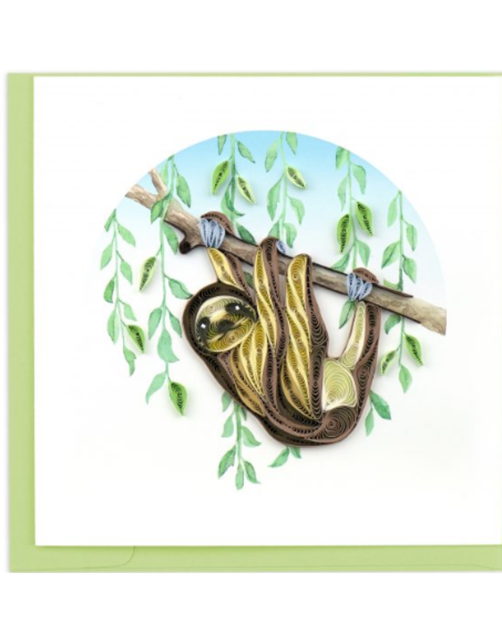 Sloth Quilling Card