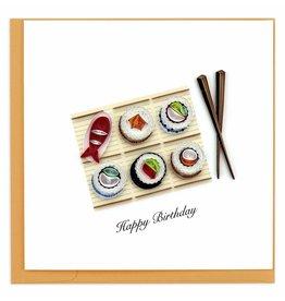 Sushi Birthday Quilling  Card, Vietnam