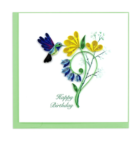 Birthday Hummingbird Quilling Card, Vietnam