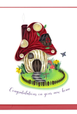 Toadstool Home, Congragulations New Home Quill Card