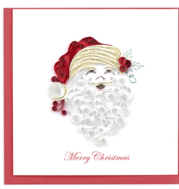 Santa Happy Holiday Quilling Card