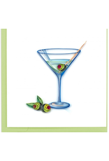 Martini Quilling Card