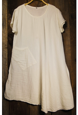 Thai, Cotton Cap Sleeve 1 Pocket Dress Cream