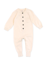 India, Organic Knit Coverall Cream