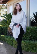 Organic Poncho, Colors  Natural Heather