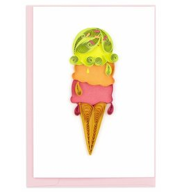 Ice Cream Cone,  Quill Gift  Enclosure Card, Vietnam