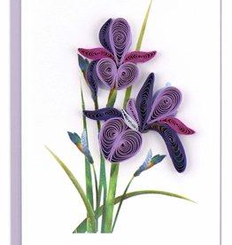 Vietnam,  Quill Enclosure Cards Iris