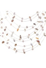 Sarah Floating Necklace Cream