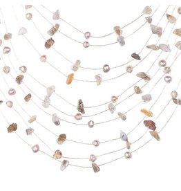 Sarah Floating Necklace Cream