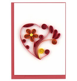 Heart, Quill Gift Enclosure Card, Vietnam