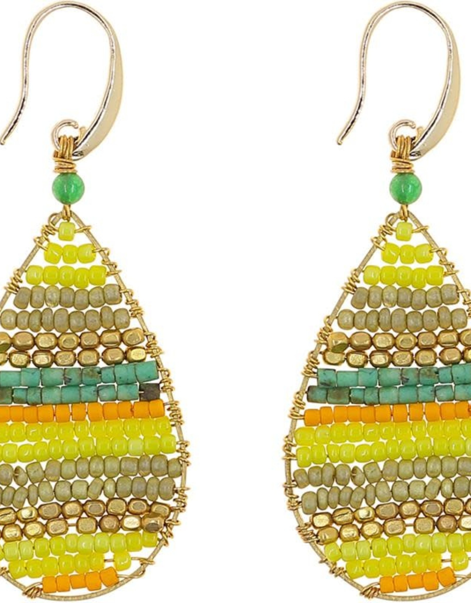 Akha Earrings- Lauren  Green