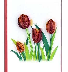 Vietnam,  Quill Enclosure Cards Tulips