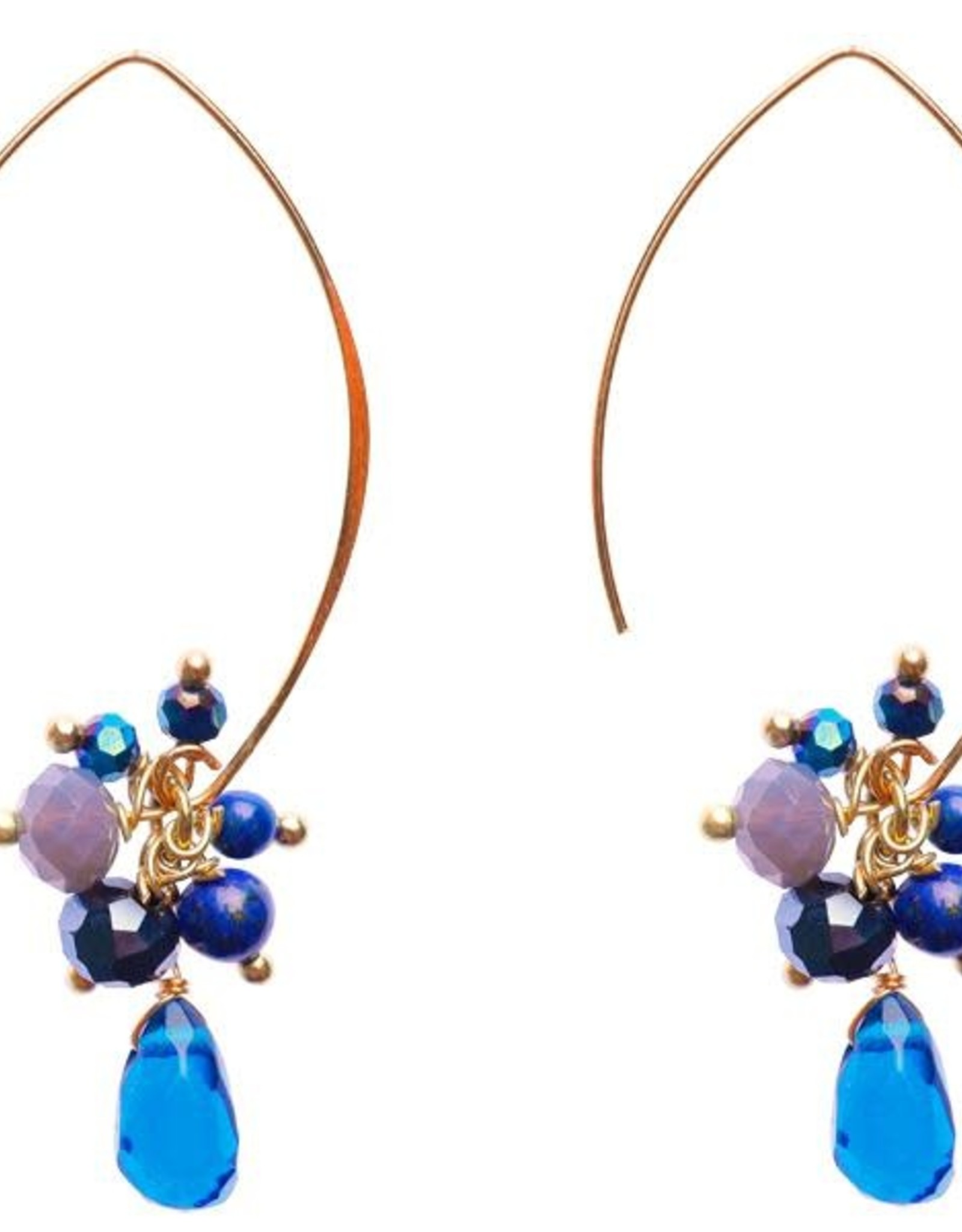 Thailand, Jen Earrings Navy