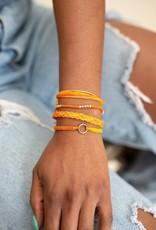 Guatemala, Carded Bracelet Set Orange