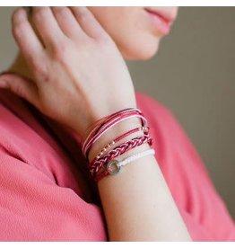 Elements Carded Bracelet Set, Red, Guatemala