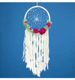 Nepal, Felt Dream Catcher FLoral Romance