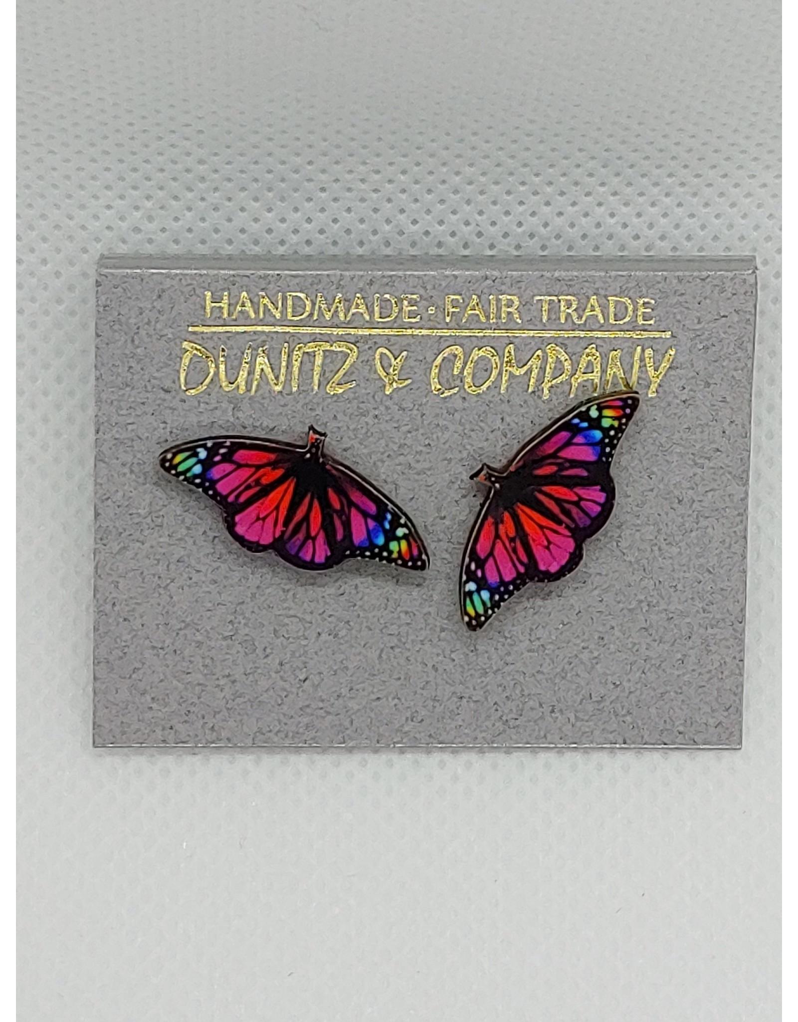Butterfly Earring, PINK/MULTI, Studs
