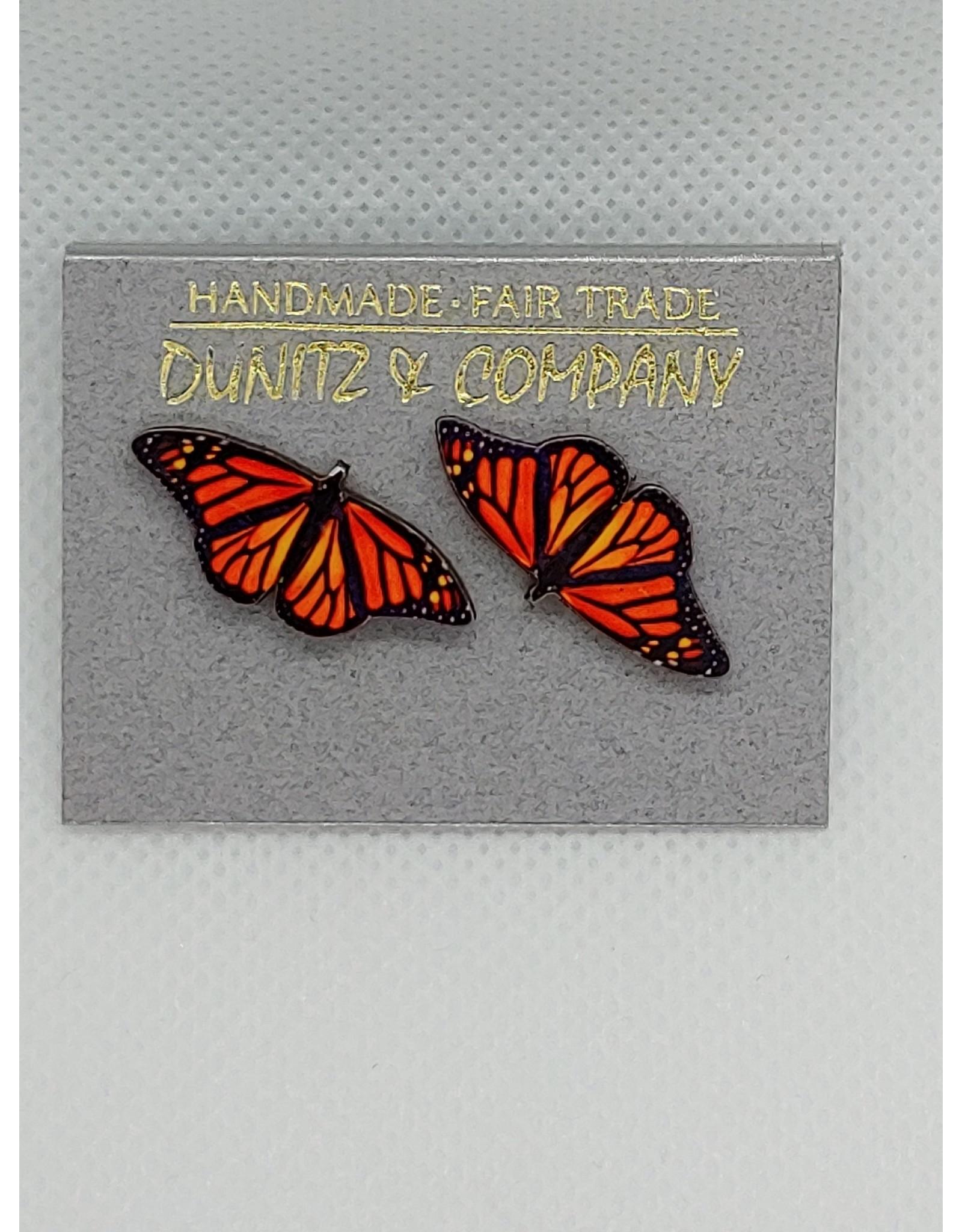 Butterly Earring, Orange, Studs
