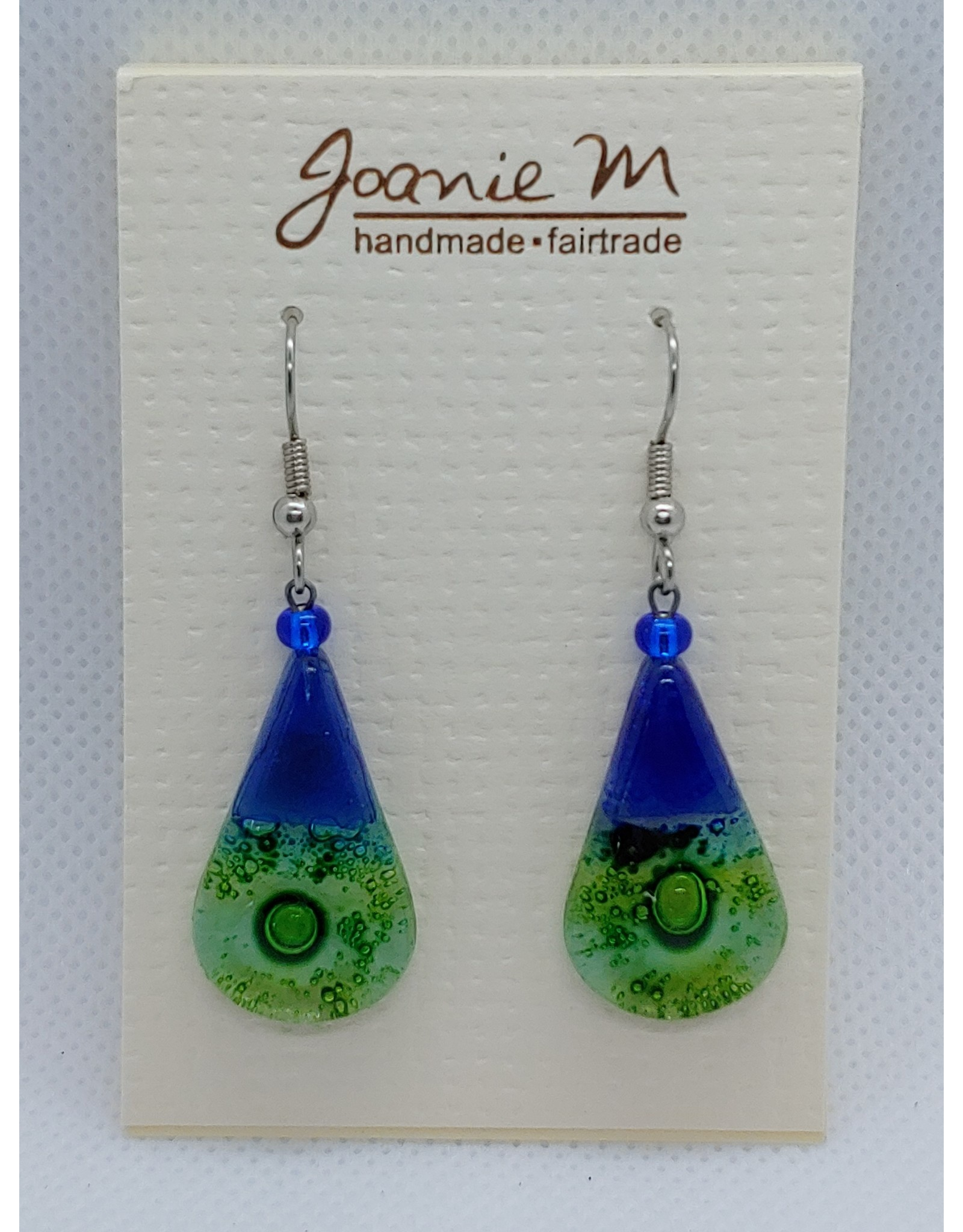 Glass Teardrop Dangles, OCEAN
