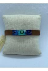 Leather, Glass Bracelet, Ocean