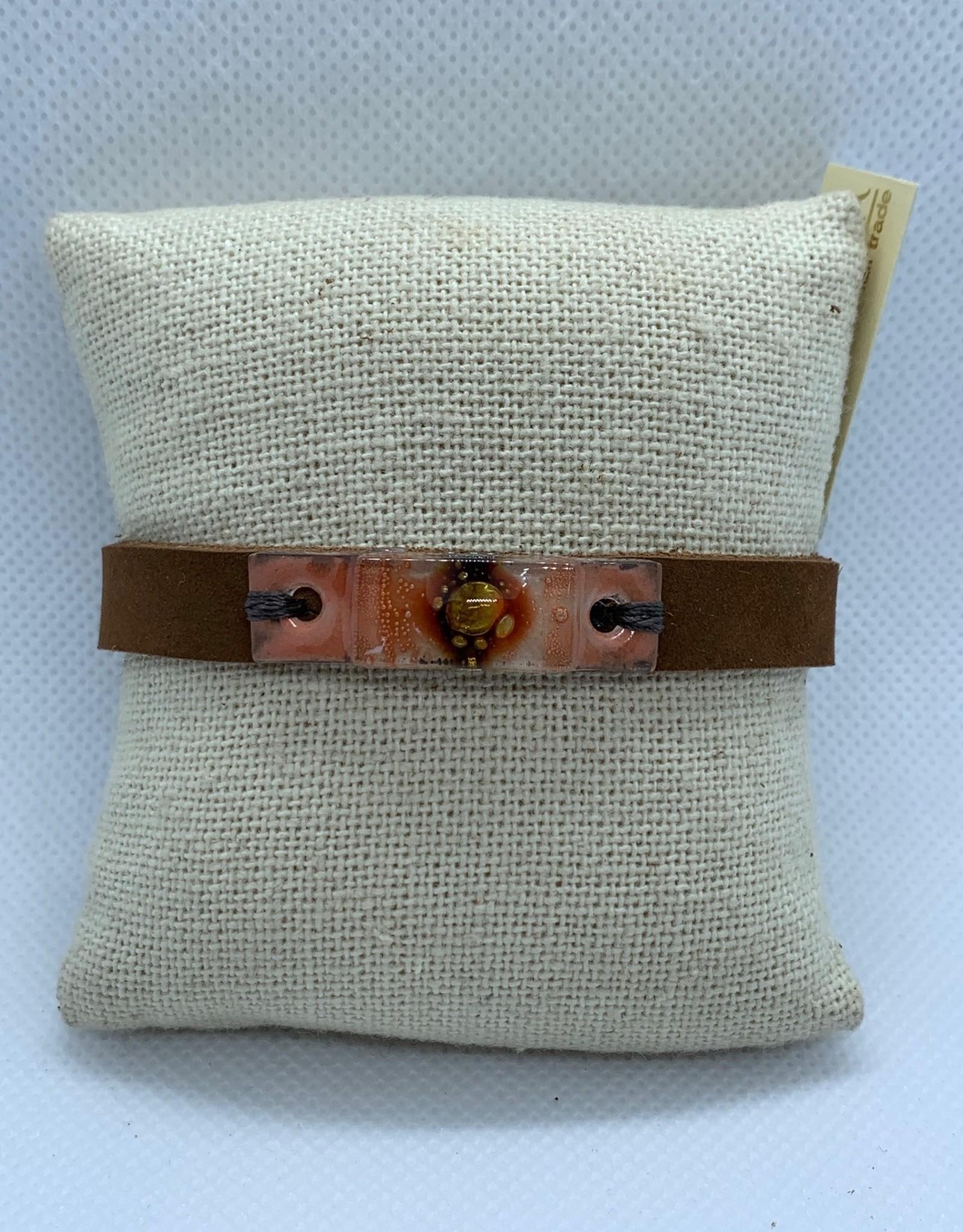 Leather, Glass Bracelet, Desert
