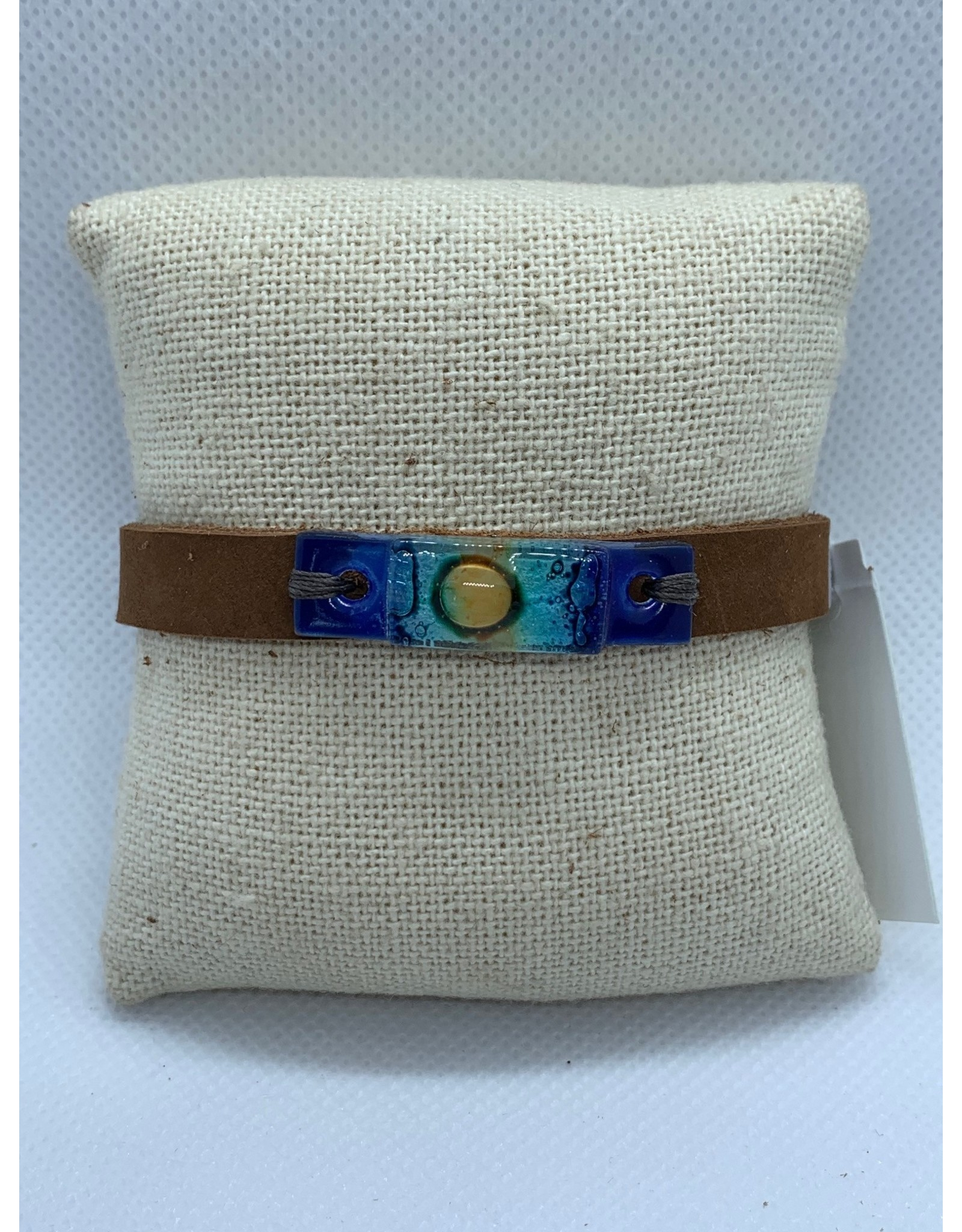 Leather, Glass Bracelet, Beach