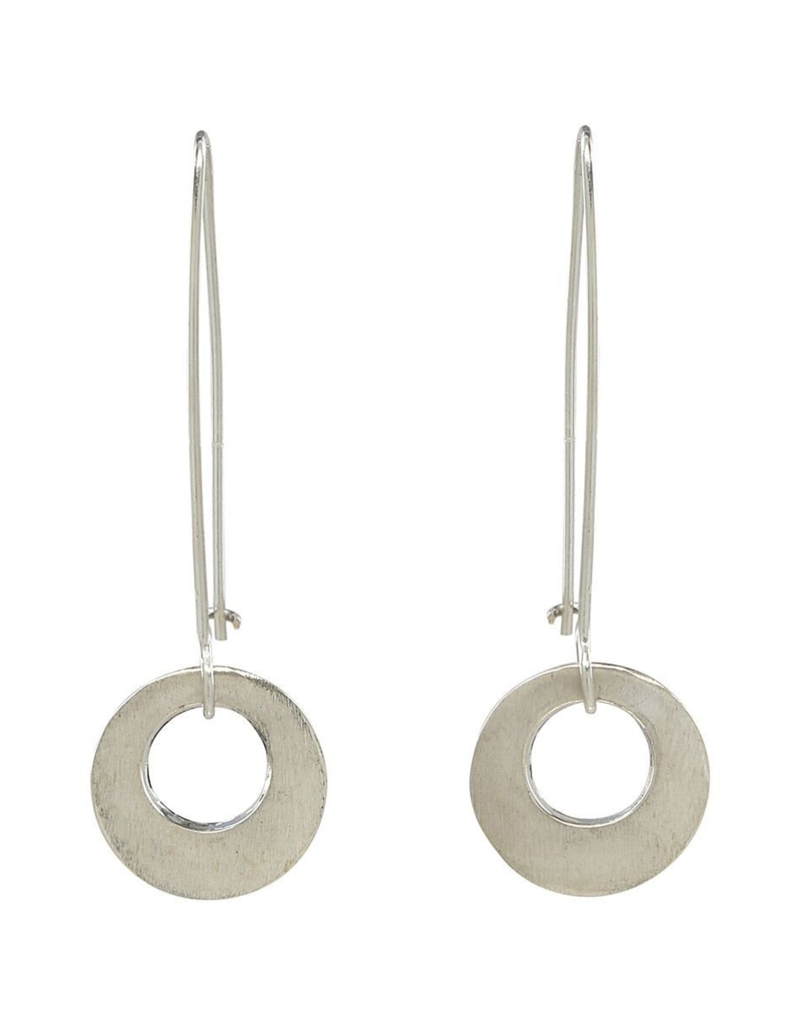 Sterling Circle on Long Earwire