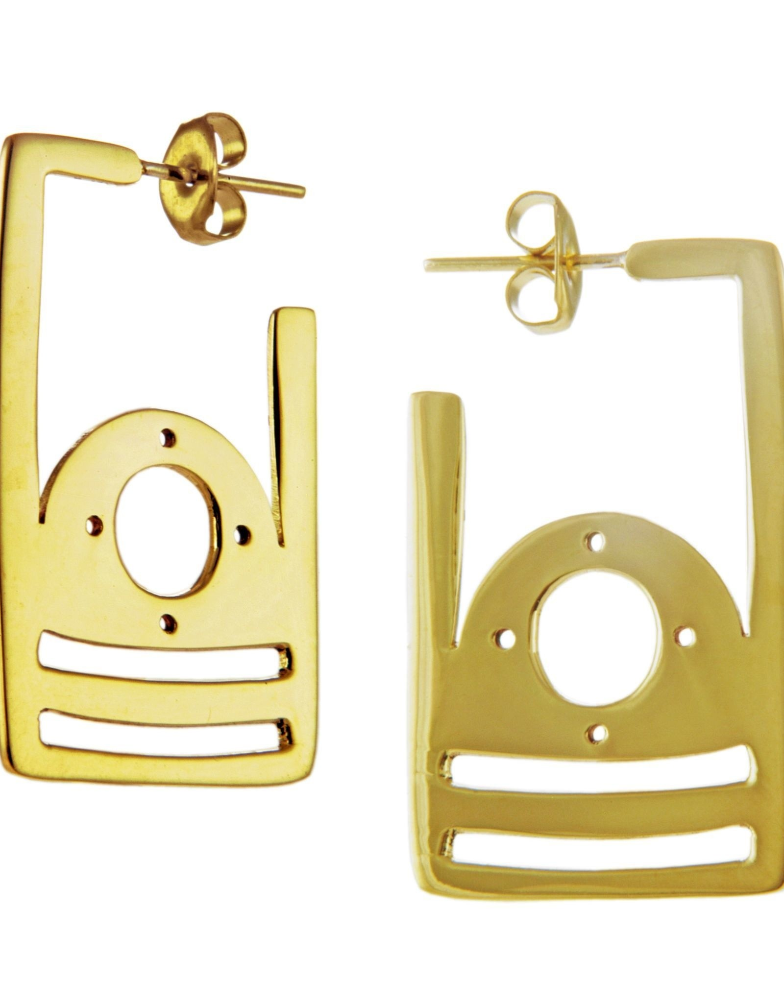 Mexico, Parallel Angular Earring Posts