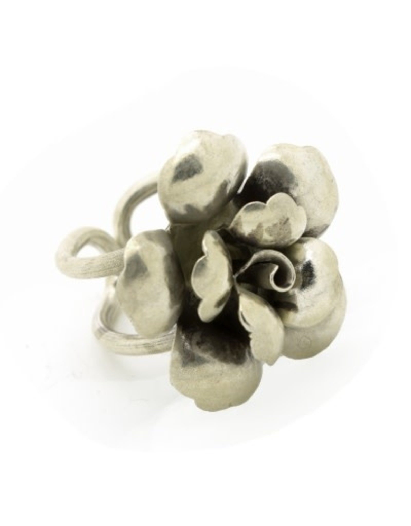 Karen 96% Sterling Silver Flower Ring