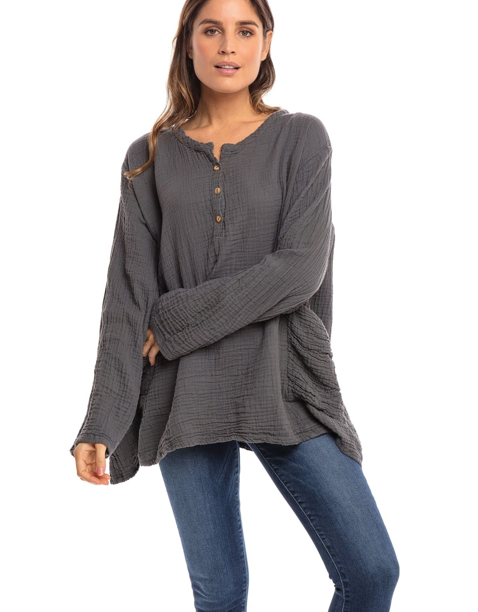 Thailand, TWO Pocket Double Cotton Long Sleeve Top