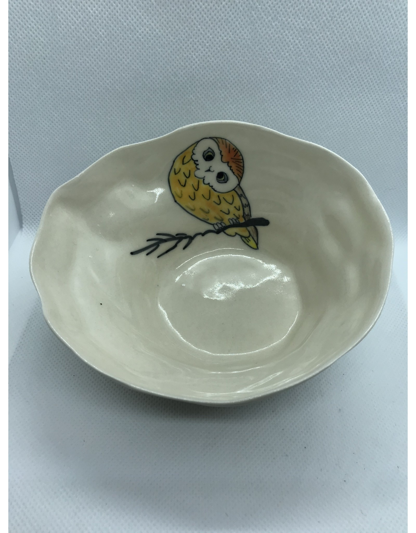 Ceramic Animal Bowl, Owl, Vietnam