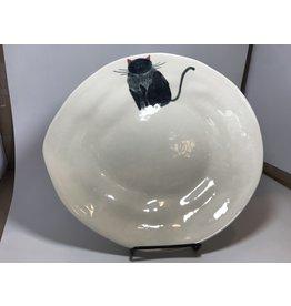 Ceramic Serving Platter, Cat, Vietnam