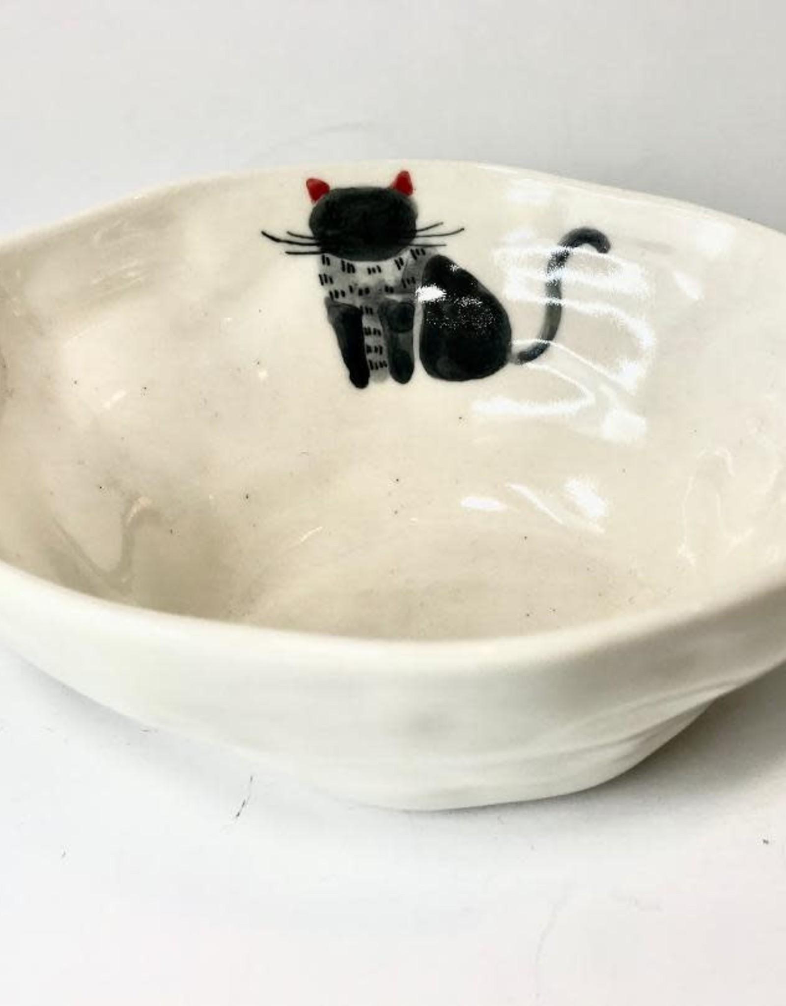 Ceramic Animal Bowl, Cat, Vietnam
