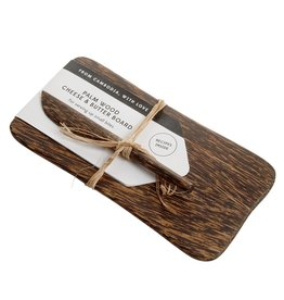 Palm Wood Cheese & Butter Board