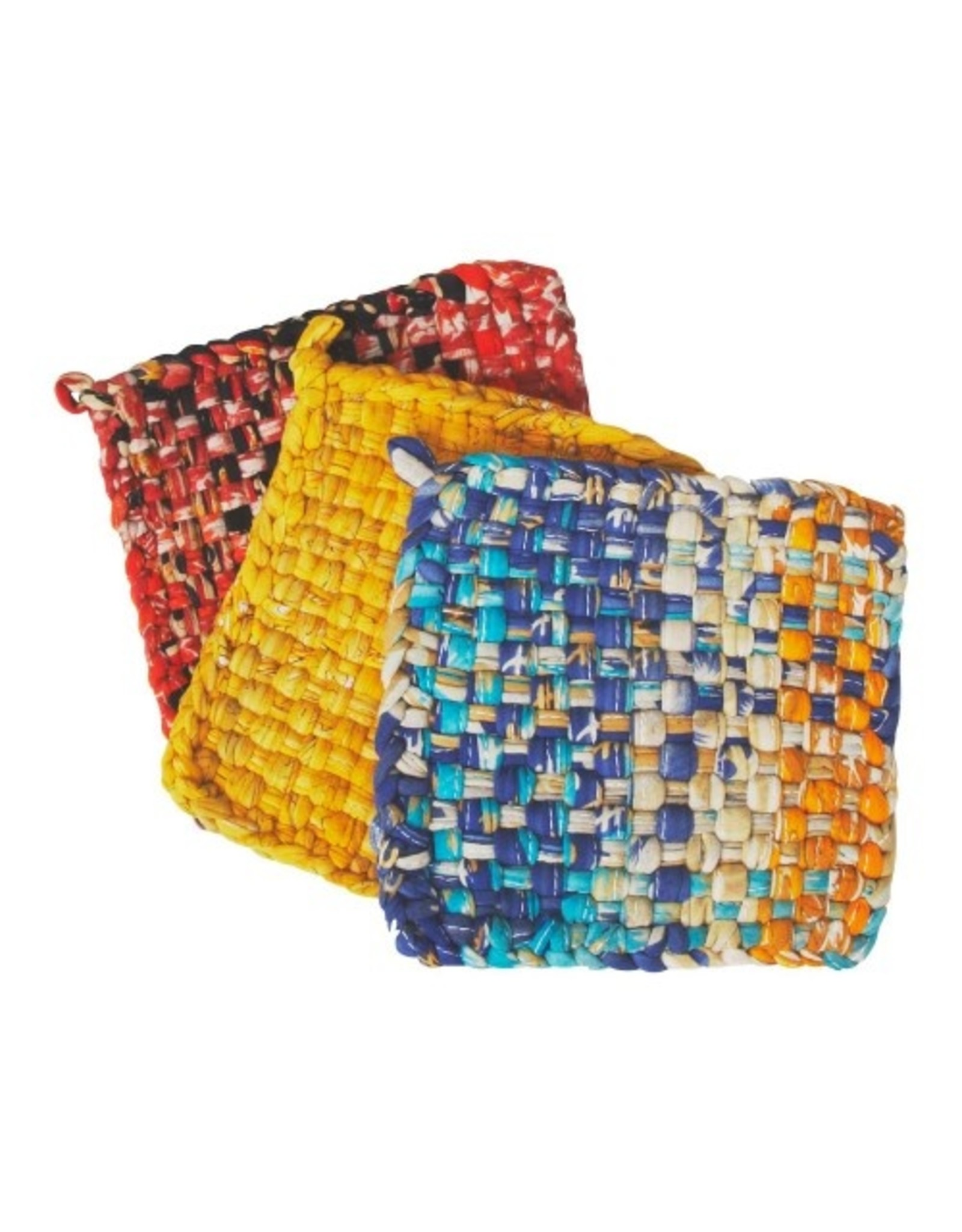Recycled Woven Hot Mats, Set of 3