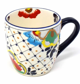 Mexico, Rounded Mug Dots and Flowers