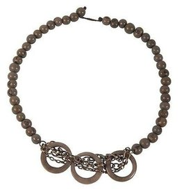 Circle Chain Choker Tagua Necklace